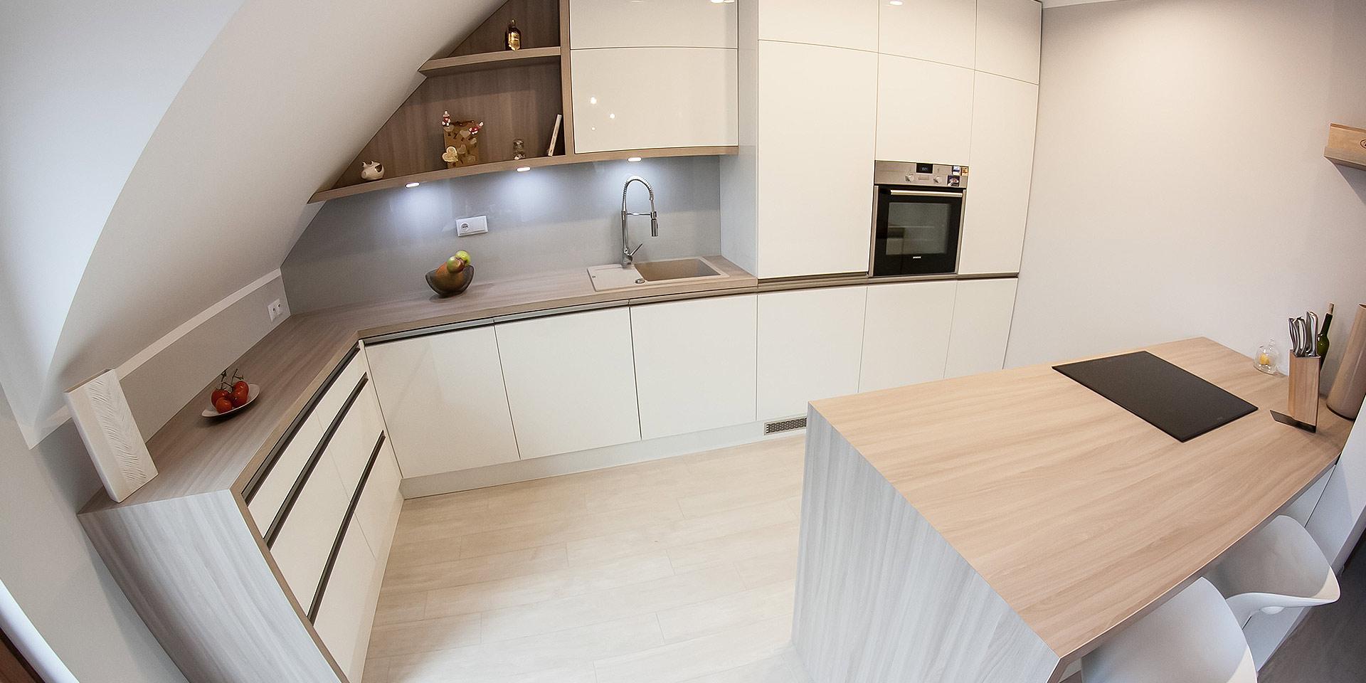 Projekt mebli kuchennych dom jednorodzinny Żerniki